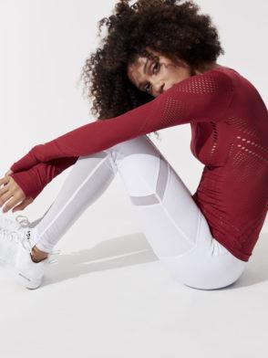 ALO Yoga Sheila Leggings High Waisted Sexy Yoga Pants - Pilates Leggings White