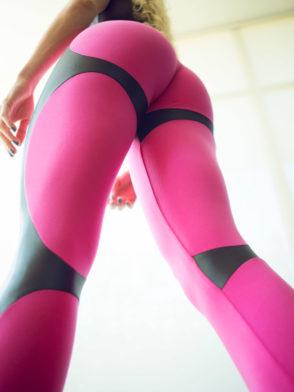 DYNAMITE Brazil Leggings L2094 APPLE BOOTY PINK – Sexy Workout Leggings