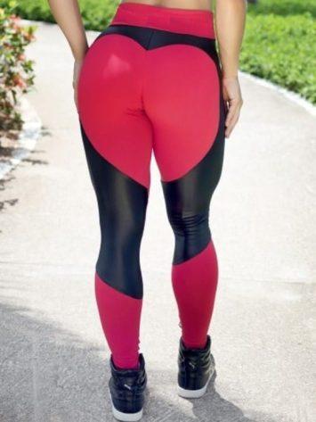 BOMBSHELL BRAZIL Leggings SEXY CLUBBER Red Mesh -Sexy Leggings