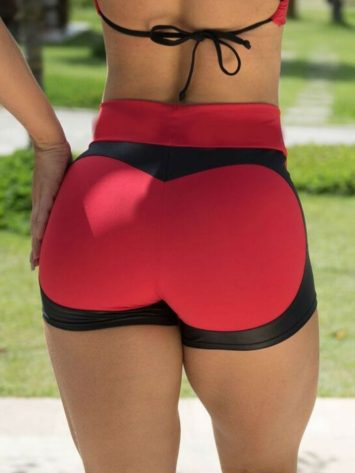 BOMBSHELL BRAZIL Shorts APPLE BOOTY Red -Sexy Shorts