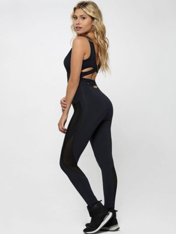 OXYFIT Jumpsuit Unbroken 15210 Black – Sexy Rompers, Cute Workout 1-Piece