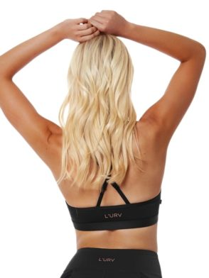 L'URV Sports Bra MY PERFECT WORLD Bralette Sexy Workout Top Black