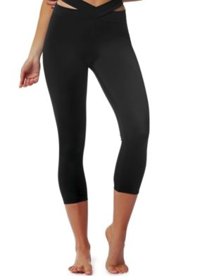 L'URV Leggings EVOLUTION 3/4 Leggings Sexy Workout Tights Black