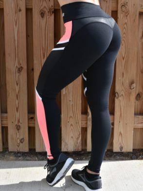 OXYFIT Leggings Ease 64114 Black Peach - Sexy Workout Leggings