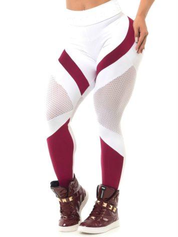 BFB Activewear Leggings Body Power Marsala – White – Sexy Leggings