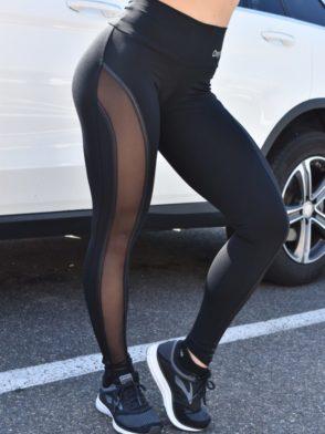 OXYFIT Leggings Cross 64134 Black- Sexy Workout Leggings