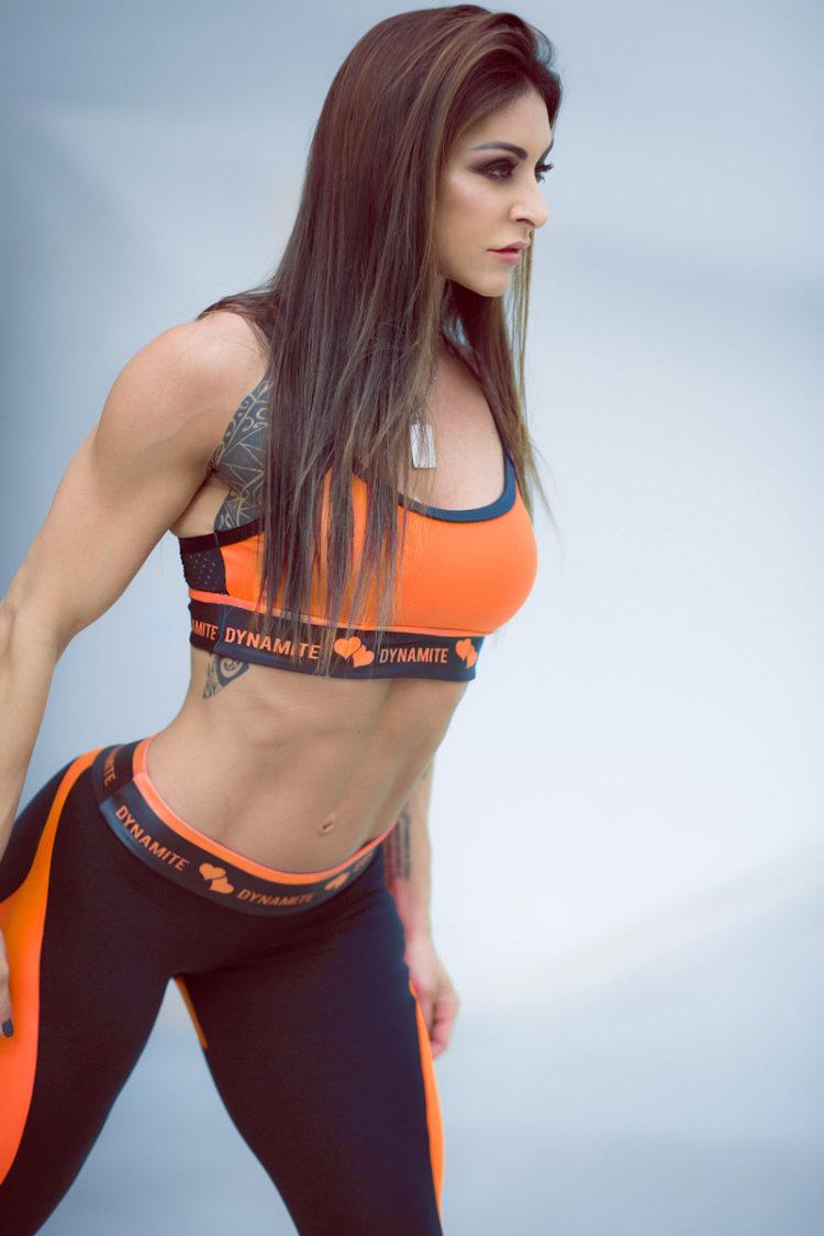 DYNAMITE Sports Bra Top T206 Top Swimmer Cirre Tangerine-Sexy Tops