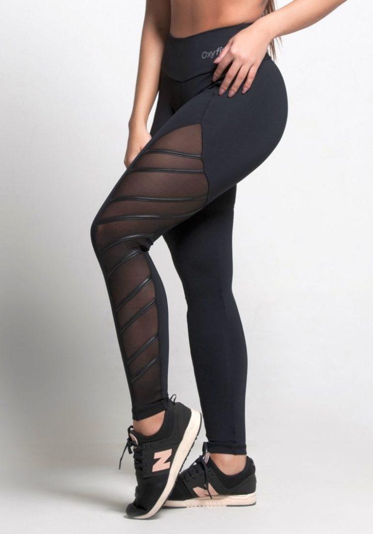OXYFIT Leggings Thunder 64151 Black- Sexy Workout Leggings