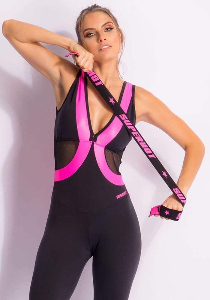 SUPERHOT MAC1617 Sexy Workout Long Jumpsuit- Romper -One-Piece