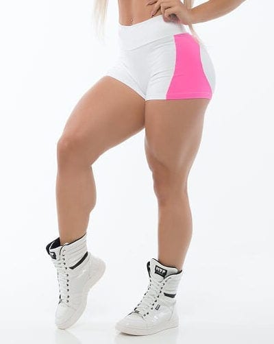 BFB Activewear Shorts FABULOUS APPLE BOOTY Pink/White