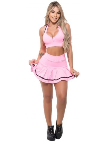 cBFB Activewear JuJu Top & Skort Set – Pink