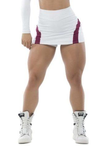 BFB Activewear Skort Skirt Dolce Shape – marsala/white