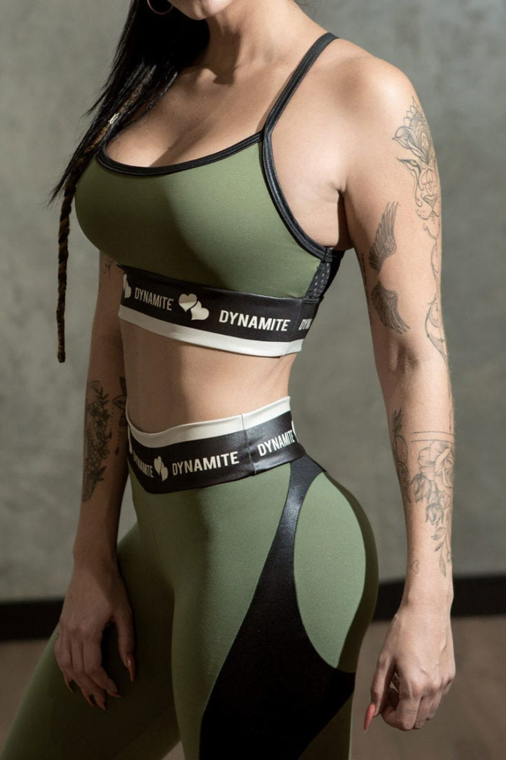 DYNAMITE Sports Bra Top T206 Top Swimmer Storm-Sexy Tops