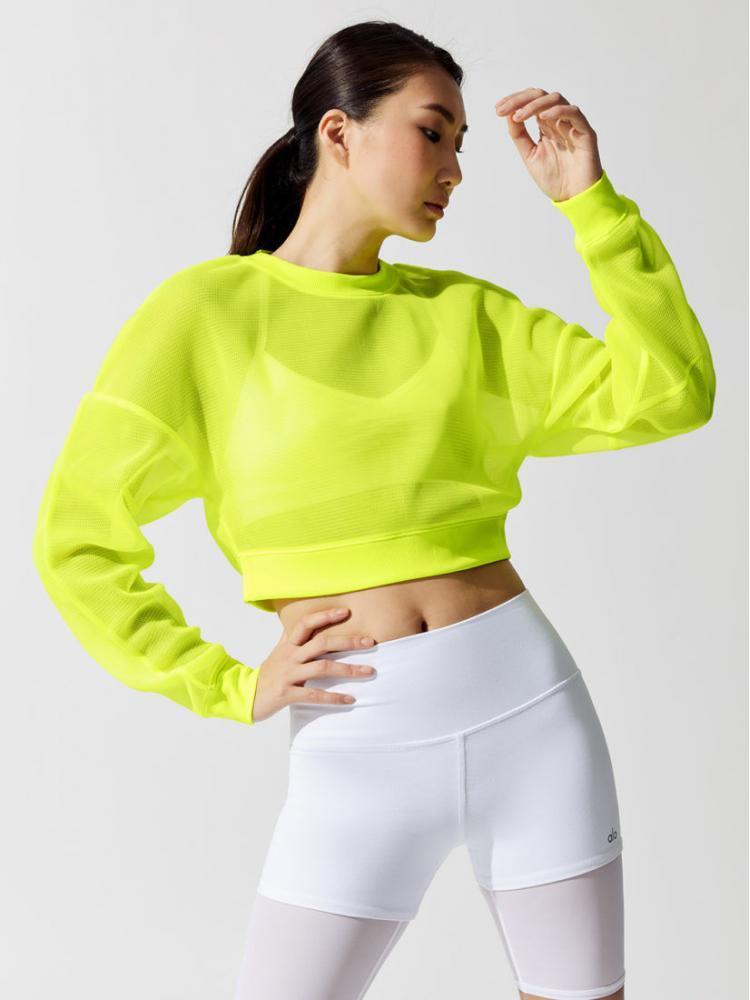 ALO Yoga Row Long Sleeve - Highlighter