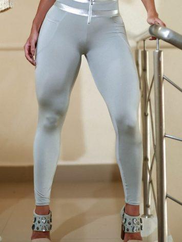 DYNAMITE BRAZIL Leggings Pathlu L2088 w/zip – Platinum