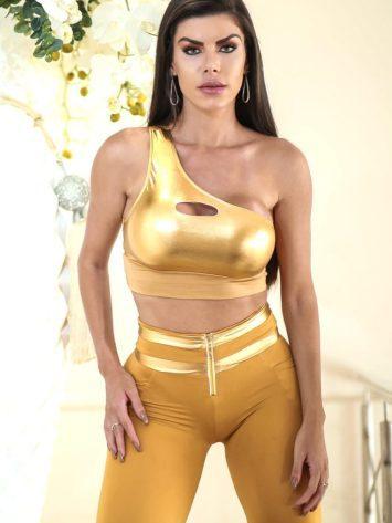 DYNAMITE BRAZIL Top Cropped – T207 – Feier – Gold