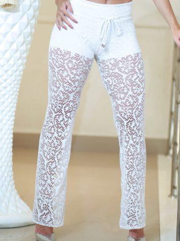 DYNAMITE BRAZIL Veduka Lace Pants – B8000 – White