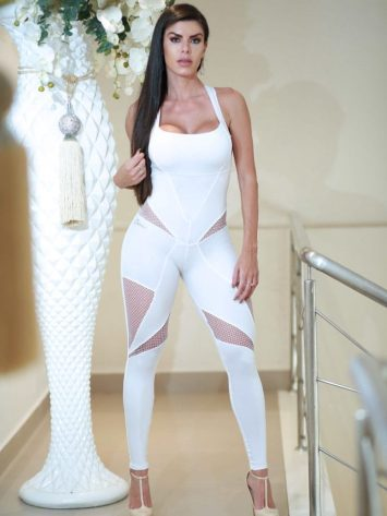 DYNAMITE Brazil Jumpsuit ML2012 Belosnezhka – White