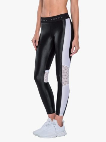 Emblem Infinity High Rise Legging Mesh – Black/White