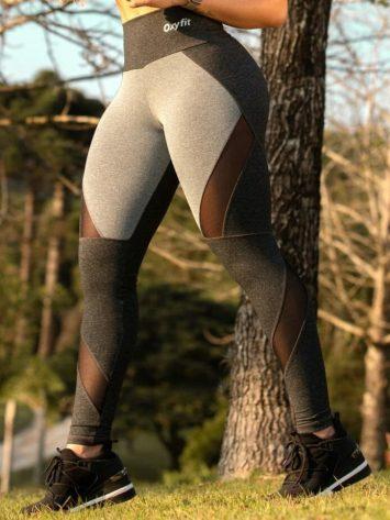 Oxyfit Leggings Bound – 64258 – Gray/Charcoal