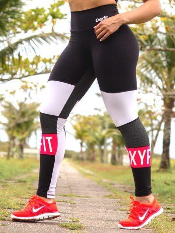 Oxyfit Leggings Farol – 64267 – Black/Pink