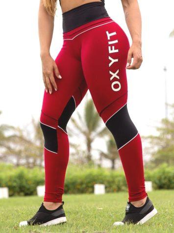 Oxyfit Leggings Galhetas – 64269- Marsala/Black